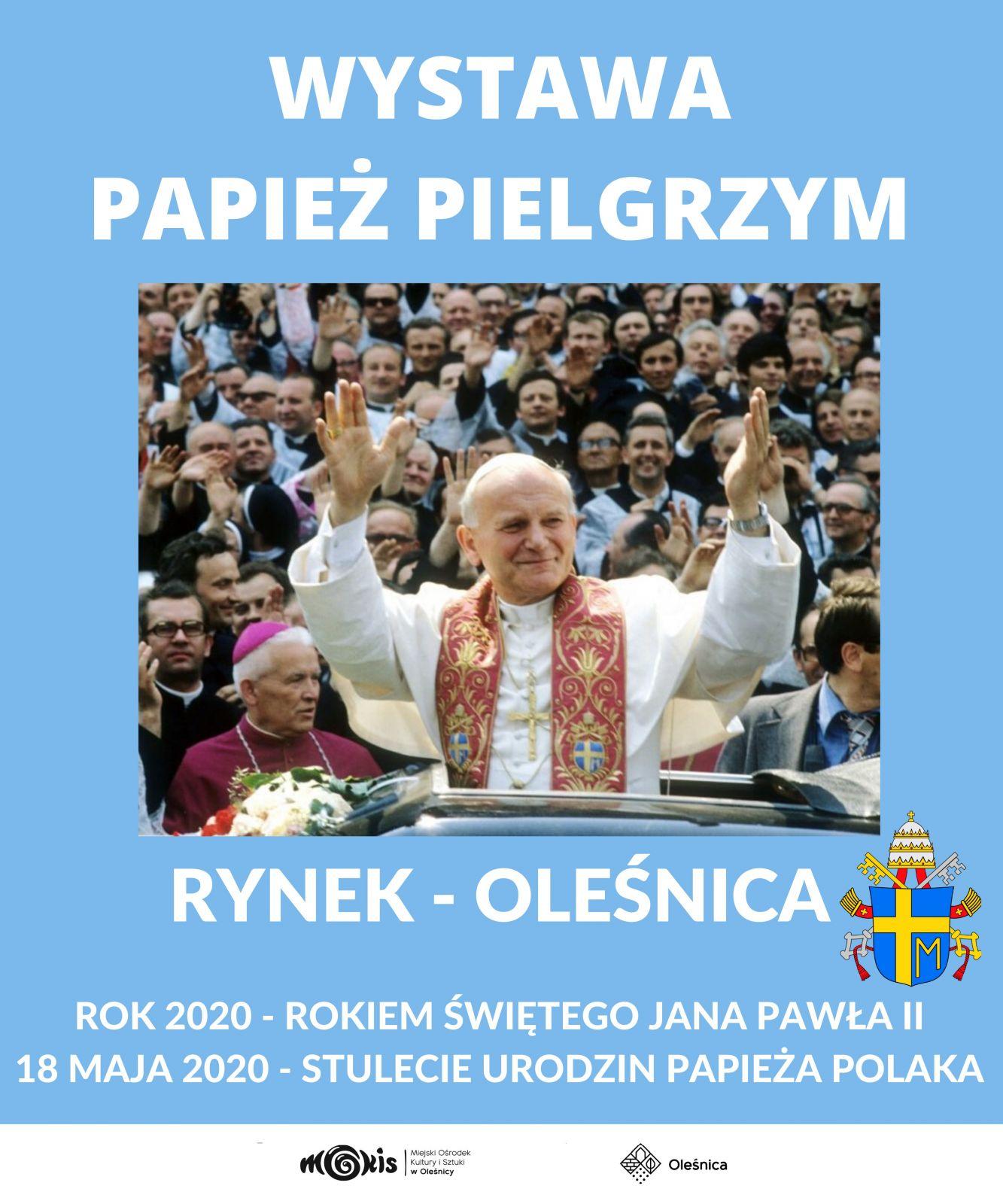plakat wystawy Papież Pielgrzym