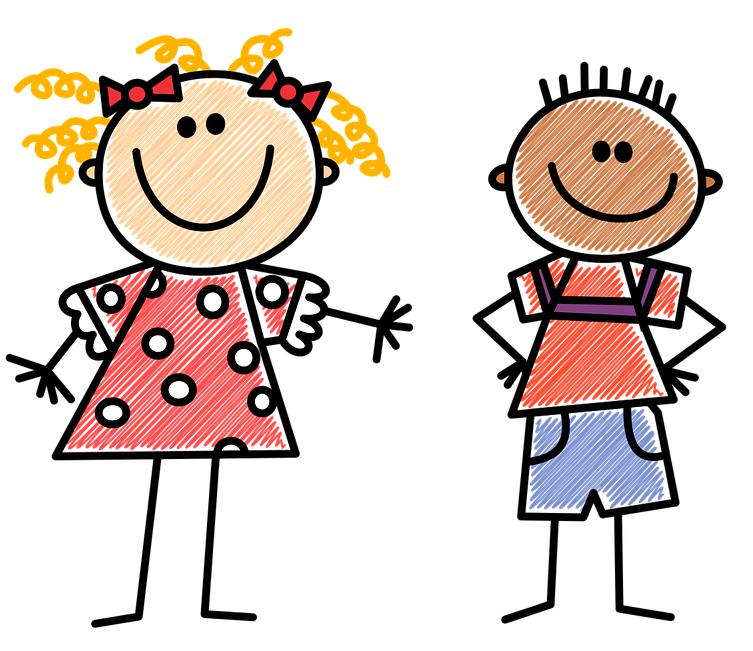 grafika z dziećmi