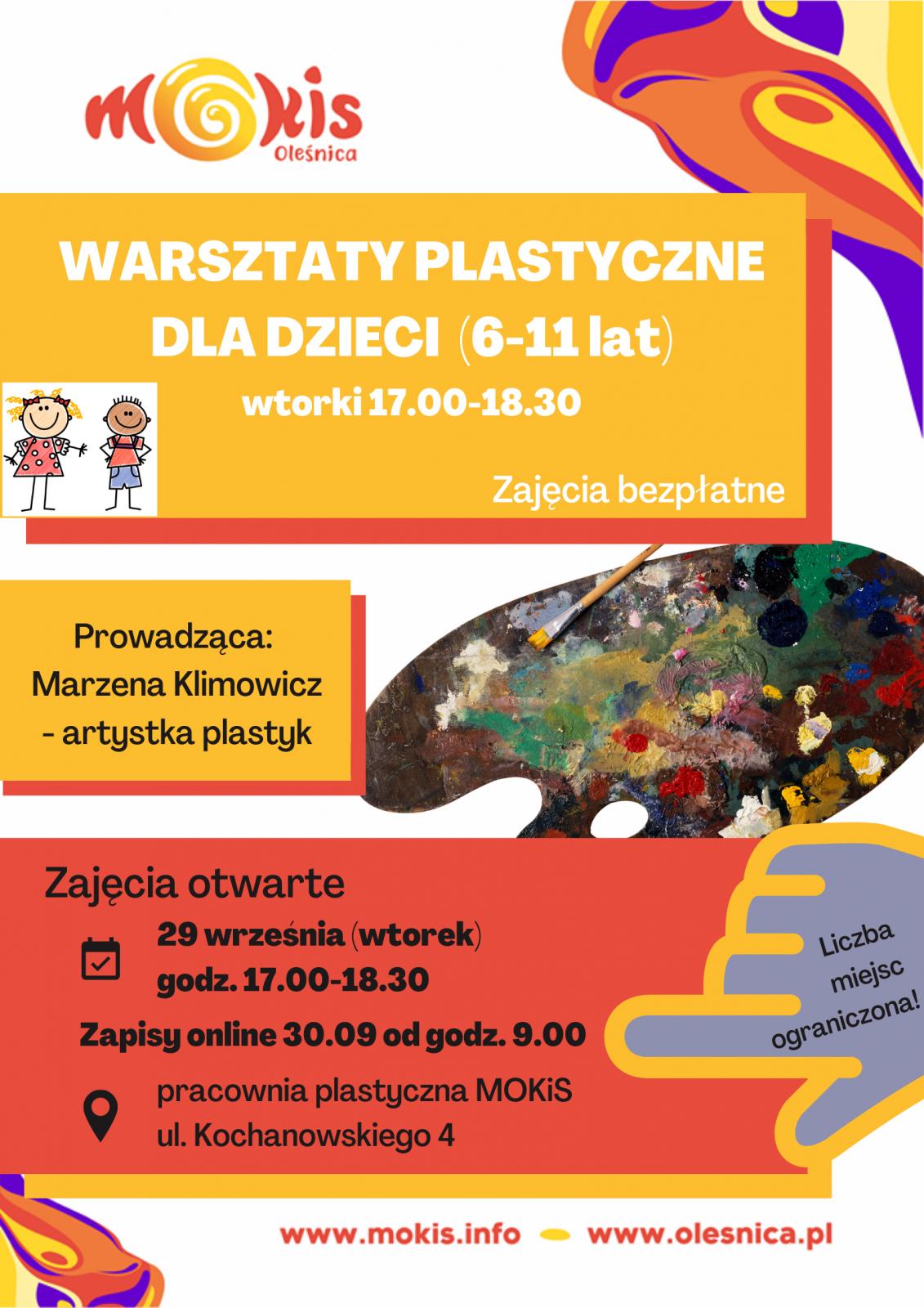 plakat plastyczne dzieci