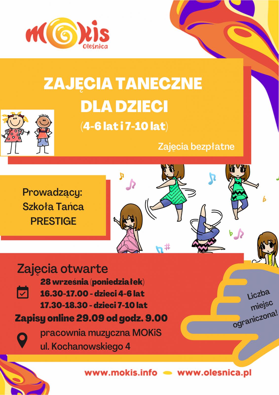 plakat taniec dzieci