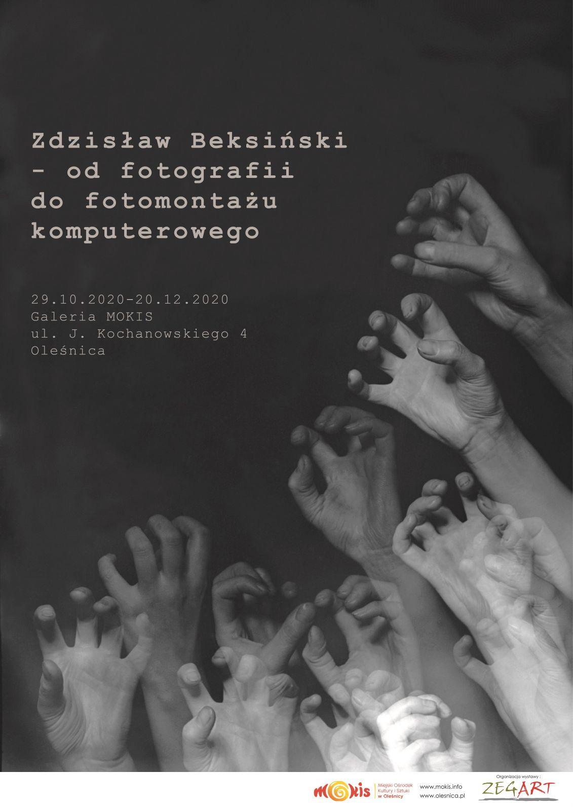 plakat wystawy o Beksińskim