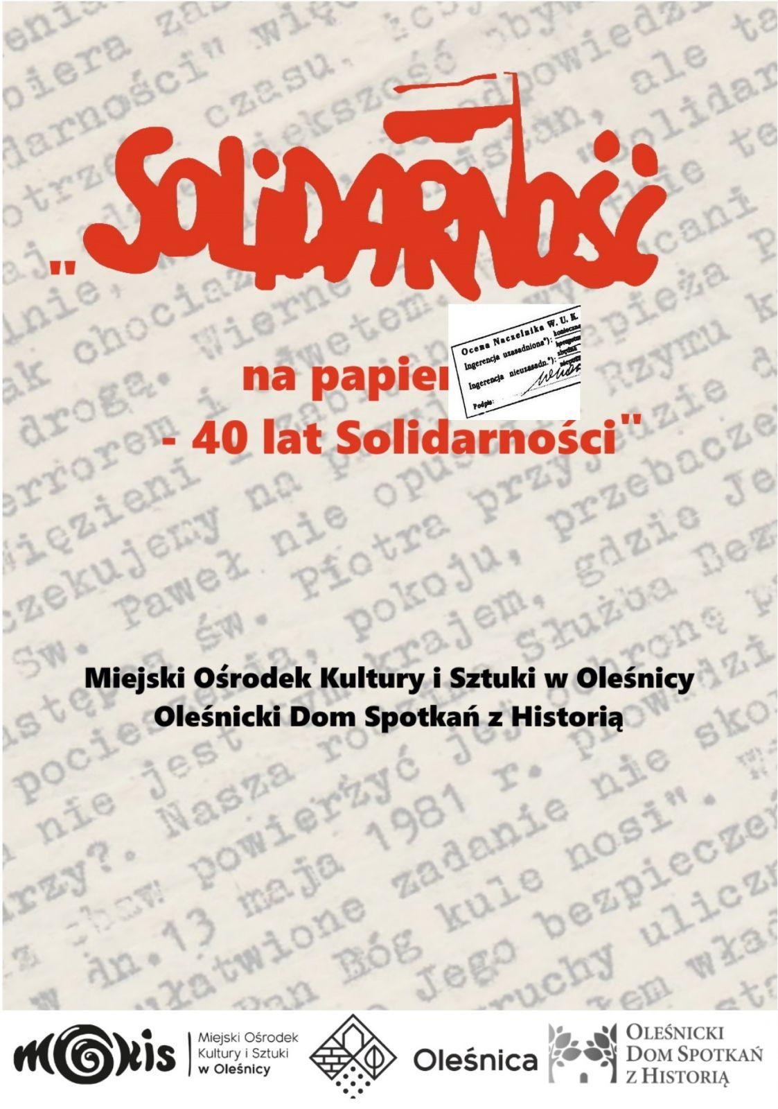 plakat Solidarność
