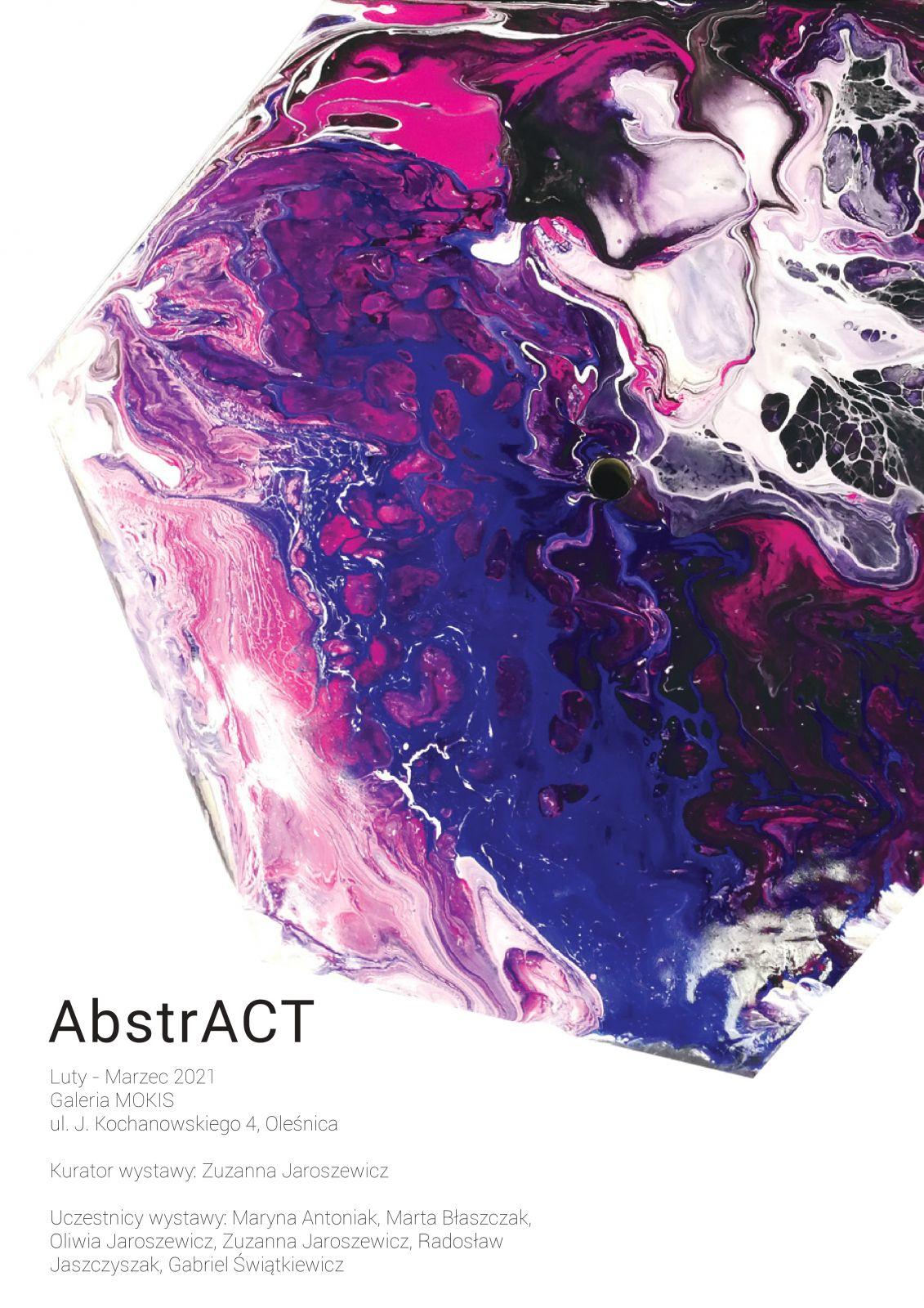 wystawa AbstrACT - plakat