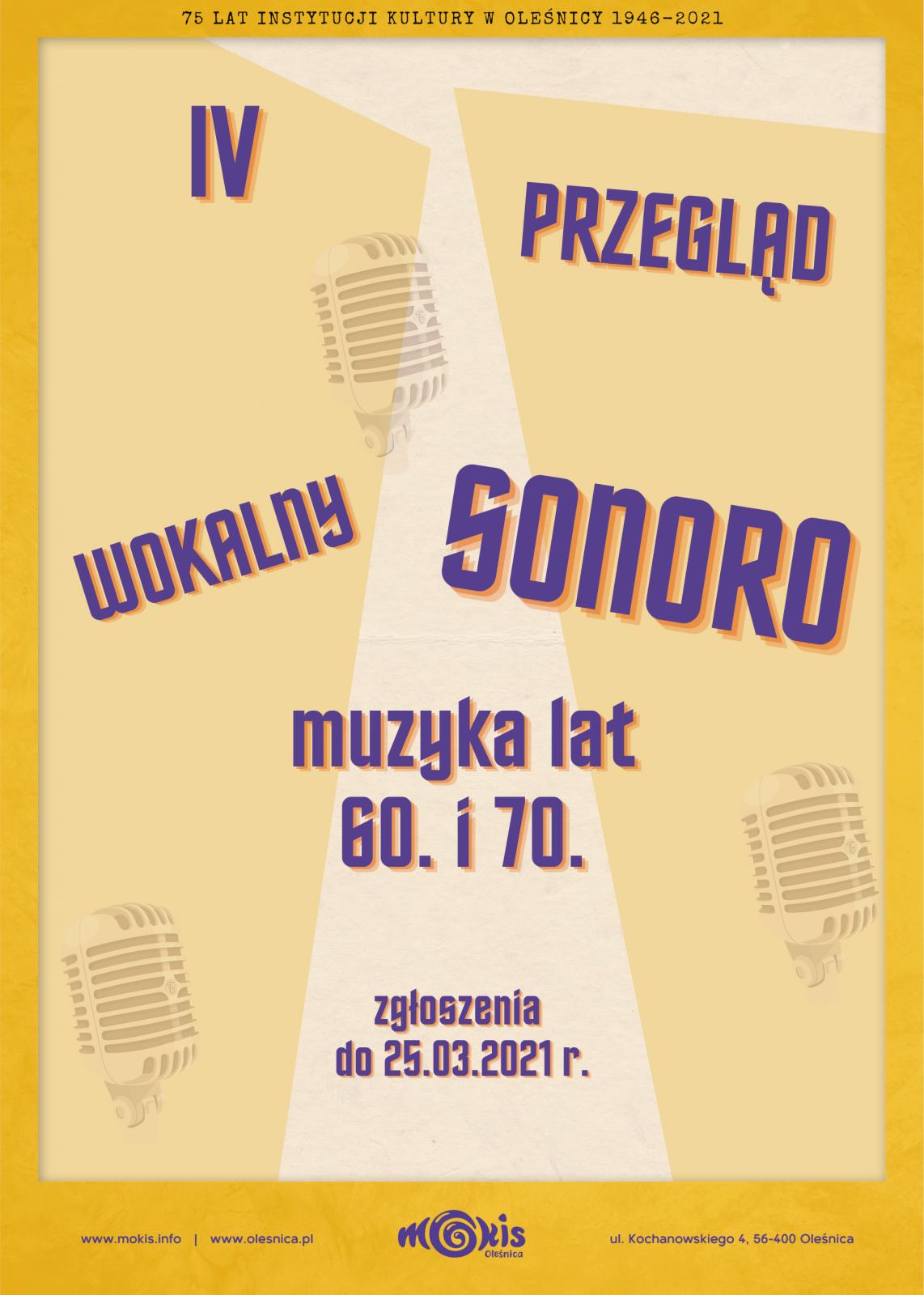 plakat SONORO