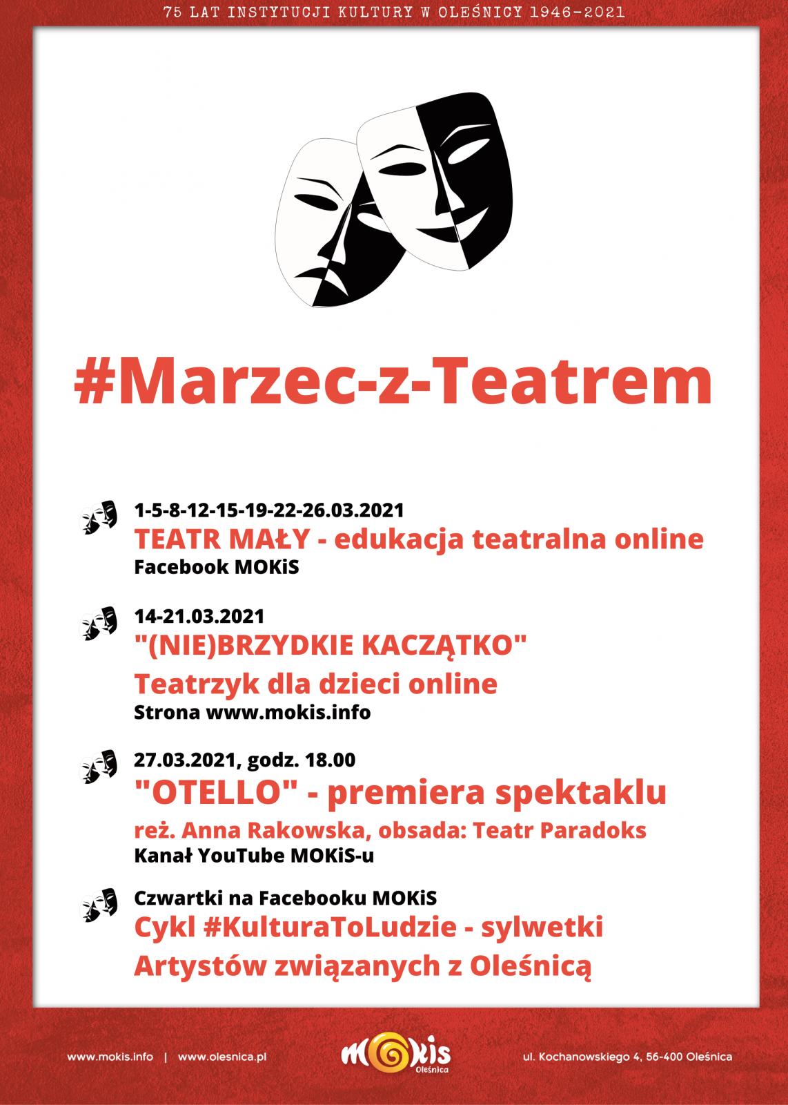 plakat Marzec z Teatrem