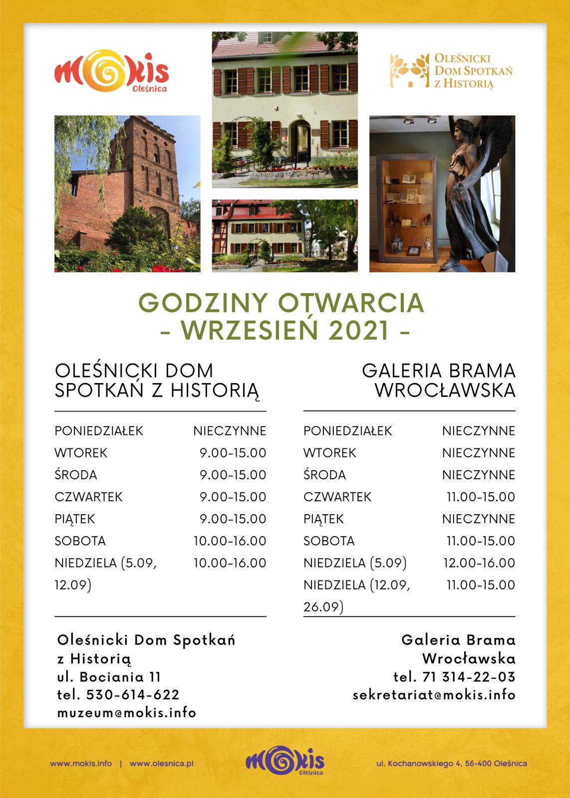 plakat - otwarcie ODSzH i Brama