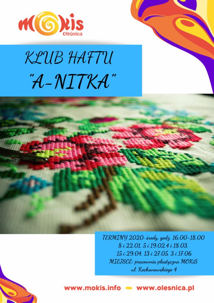 Klub haftowania A-Nitka - informacja niedostepna dla niedowidzących (opis dostępny w treści strony)